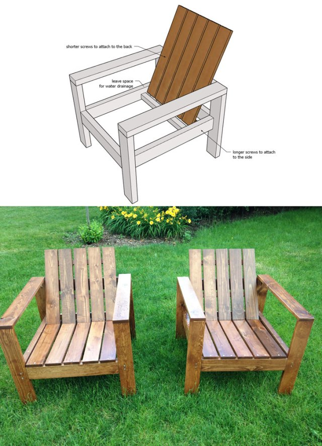 diy wood slat chair plans