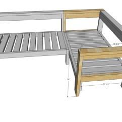 Plans To Build A Sofa Bed Black Grey Walls Ana White Kids Couch 2x4 Diy Sectional With Crib