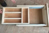 Ana White | Kitchen Drawer Organizer - Adding a Double ...