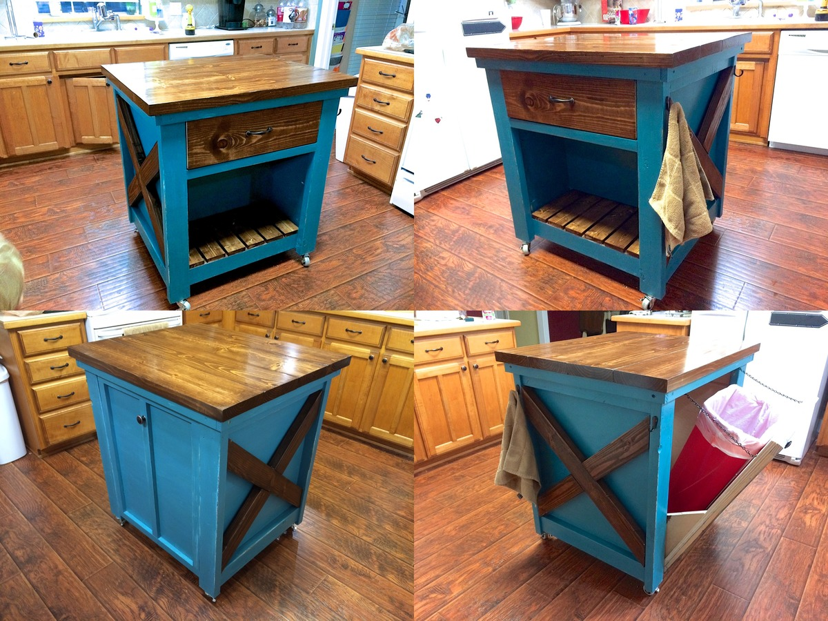 trash cans kitchen rolling island for ana white with bin diy projects
