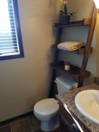 Ana White | Leaning Bathroom Ladder Over Toilet Shelf ...