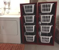 Ana White | Laundry Sorter - LOVE these bins!! - DIY Projects