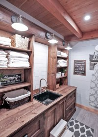 Ana White | Rustic Laundry Room Cabinet with Hutch - DIY ...
