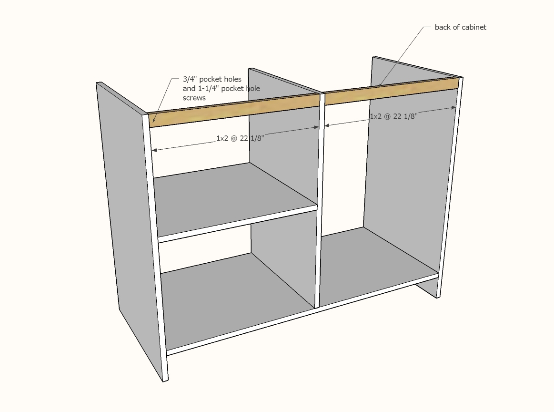 barn door cabinet with mini fridge and