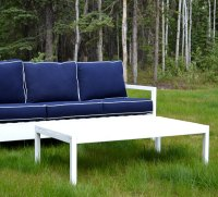 Ana White | Simple White Outdoor Coffee Table - DIY Projects