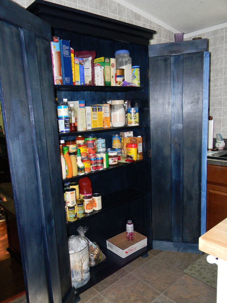 kitchen armoire round black table ana white simplest as pantry diy projects