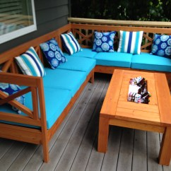 Diy Outdoor Sofa Table Stickley Leather Quality Ana White Weatherly Sectional L Shaped Projects