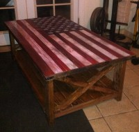 Ana White | American flag rustic coffee table - DIY Projects