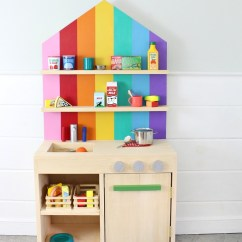 Toddler Play Kitchens Pop Up Electrical Outlets For Kitchen Islands Ana White Diy With Back Wall Projects A New Easy To Build The Is Just 1x12 Boards Door Too And An Off Shelf 24 X 48 Plywood Panel So No Difficult