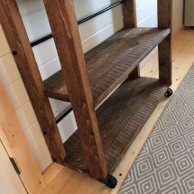 Ana White Reclaimed Wood Rolling Shelf - Diy Projects