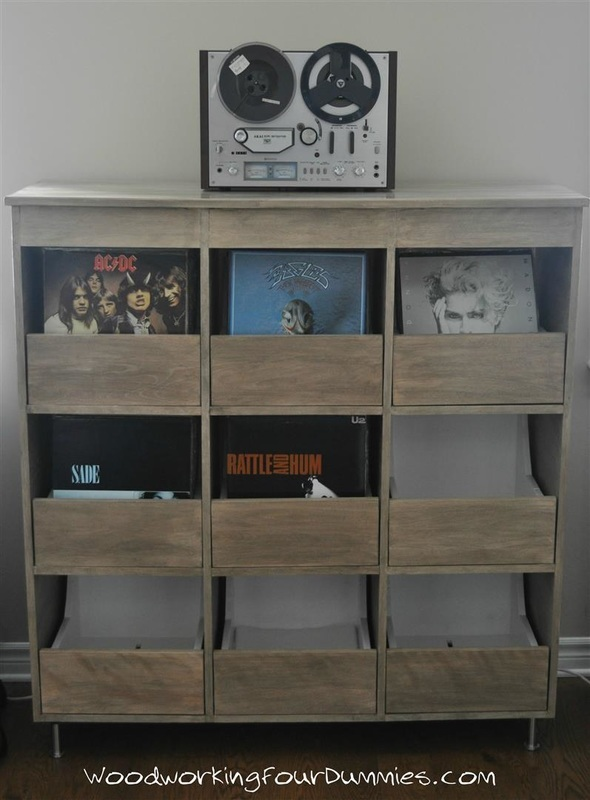 Ana White  Vinyl Record Storage Cabinet  DIY Projects