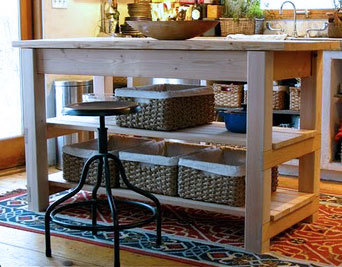 how to build a kitchen island with seating white subway tile backsplash ana michaela s diy projects featuring added shelves two large drawers and wood top this solid was built by at the garden eden