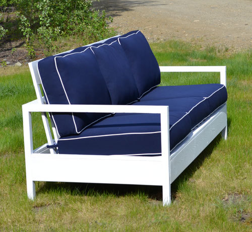 modern twine curved arm sofa sauder table ana white simple outdoor diy projects features relaxed seats with styling and deep cushions this free easy step by plan is an affordable alternative to designer furniture