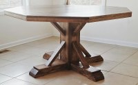 Benchmark Pedestal Base Octagon Table | Ana White