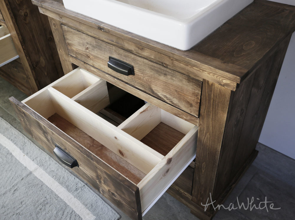 Rustic Bathroom Vanities Ana White
