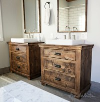 Ana White | Rustic Bathroom Vanities - DIY Projects