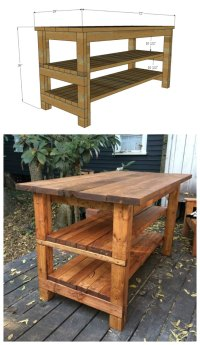 Ana White   Rustic Kitchen Island - Built by House Food ...