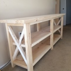 Living Room Console No Area Rug In Ana White | Rustic X - Diy Projects