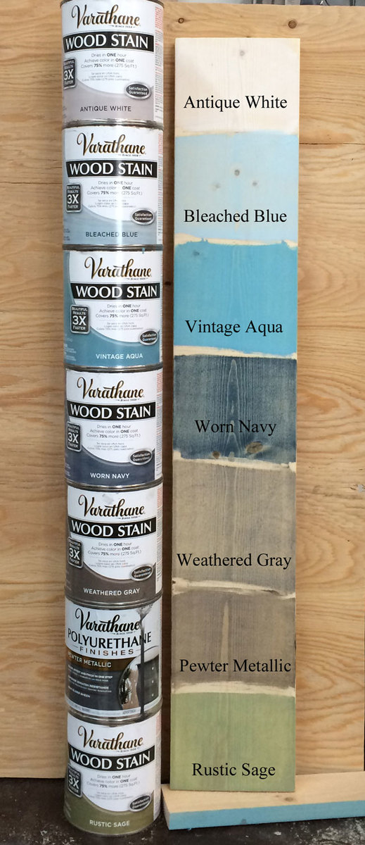 Varathane Wood Stain Colors Chart