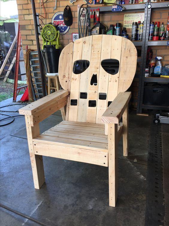 skull chair pottery barn windsor ana white adirondack diy projects