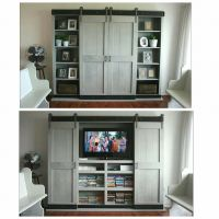 Ana White | Sliding Door Cabinet for TV - DIY Projects
