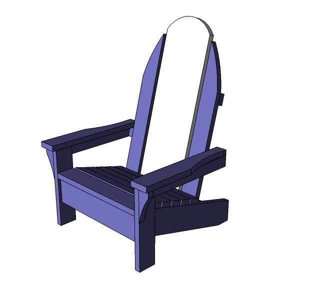adirondack chair diy ana white dining room table and chairs child sized surf board projects features a lower seat some extra styling wide armrests the is coolest kids outdoor on deck