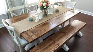 Ana White Farmhouse Table Bench DIY Projects
