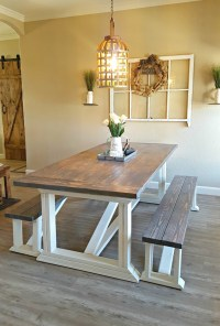 Ana White | Rekourt Dining Room Table and benches - DIY ...