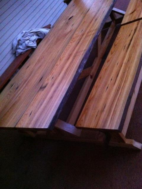 Ana White Fancy X Farmhouse Table From Sinker Cypress