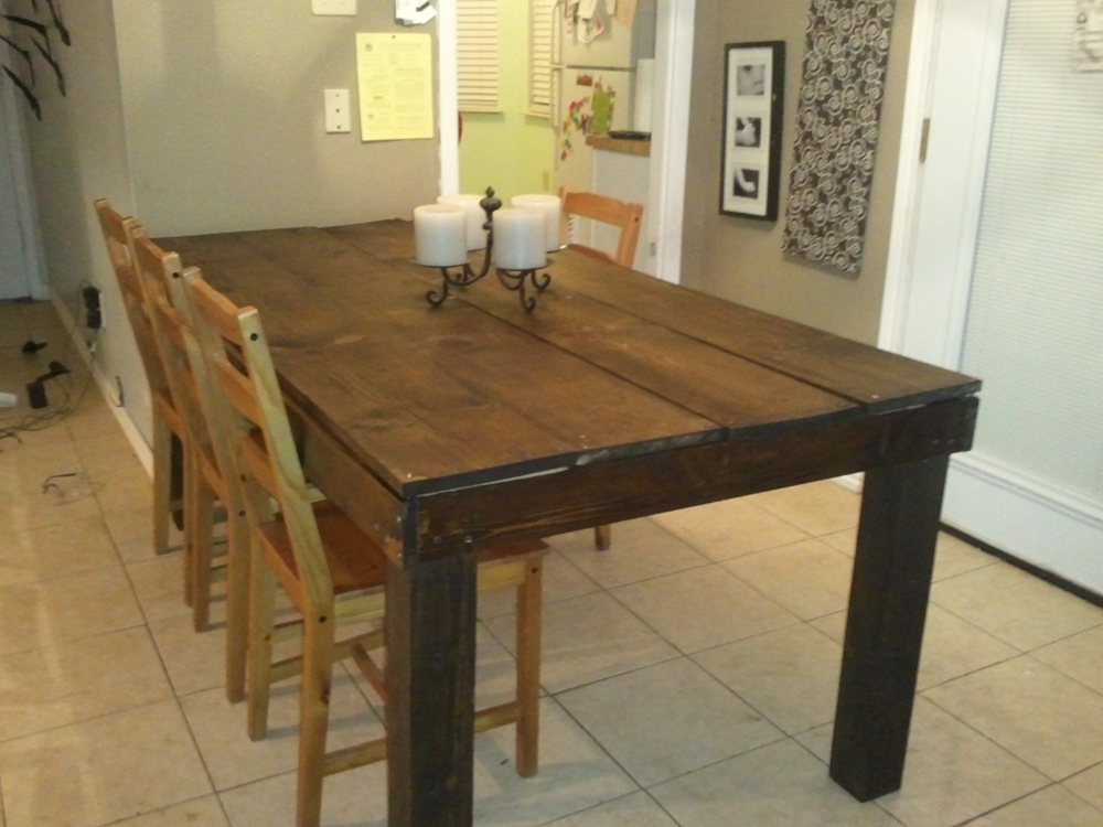 kitchen table legs towel bar ana white rustic 4x4 diy projects
