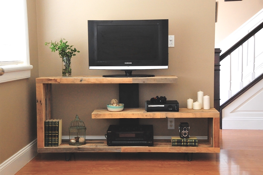 Ana White  Rustic Modern TV Console  DIY Projects