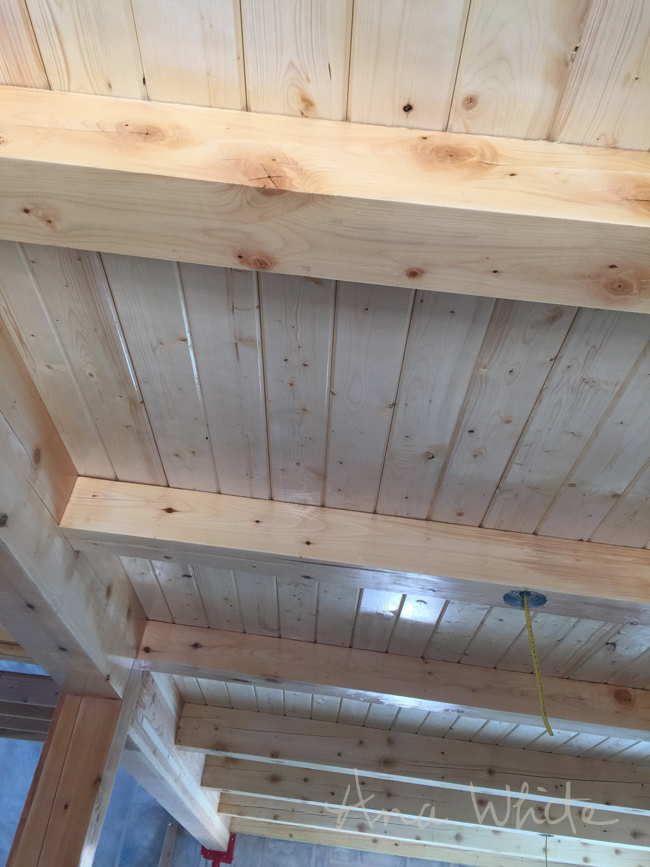 Finishing wood ceiling beams for Old world traditions faux beams