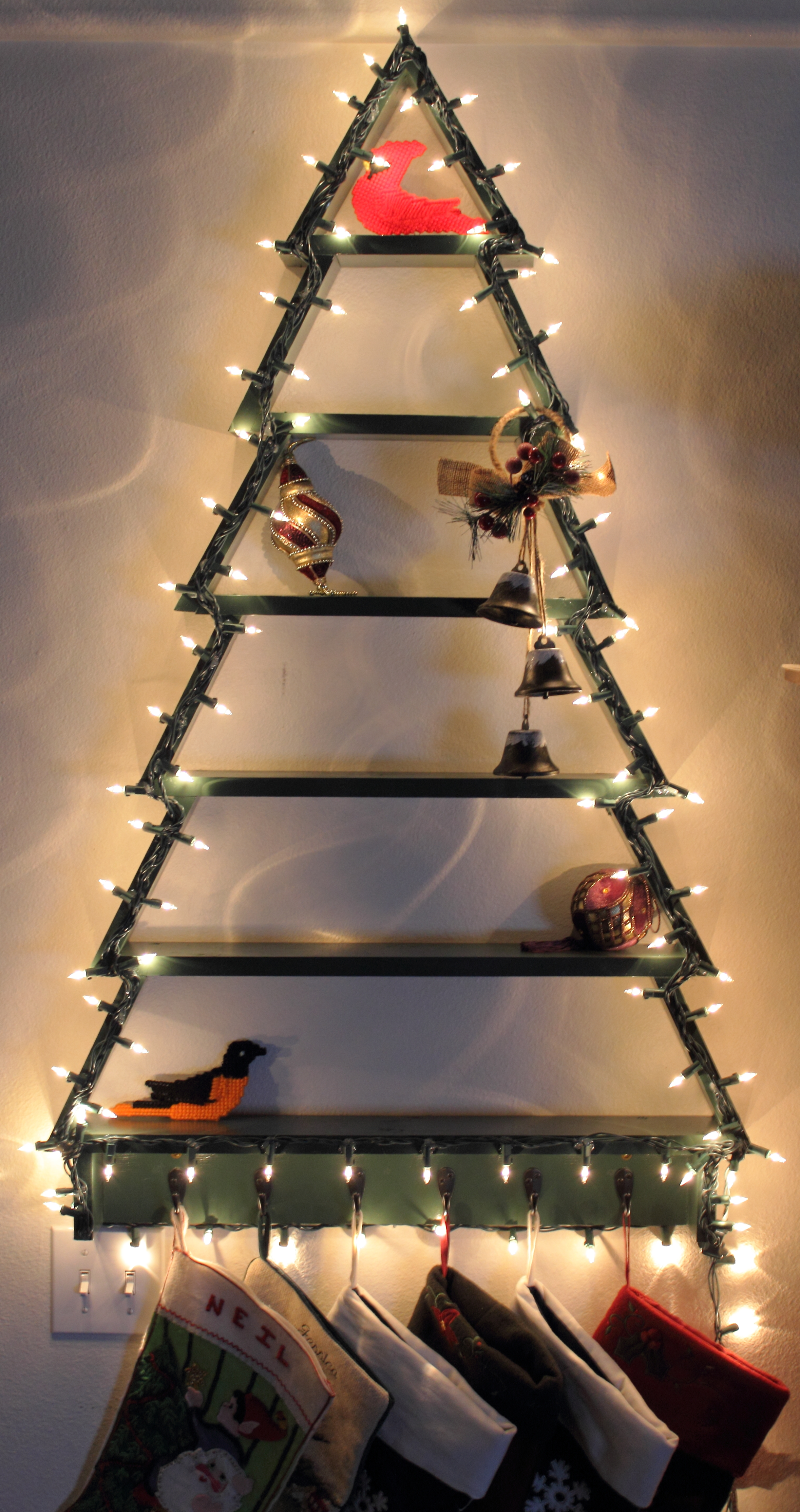 Ana White  Christmas Tree Shelf with Lights  DIY Projects