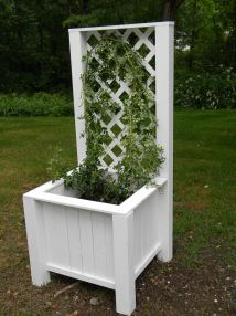Ana White Planter Box With Trellis - Diy Projects