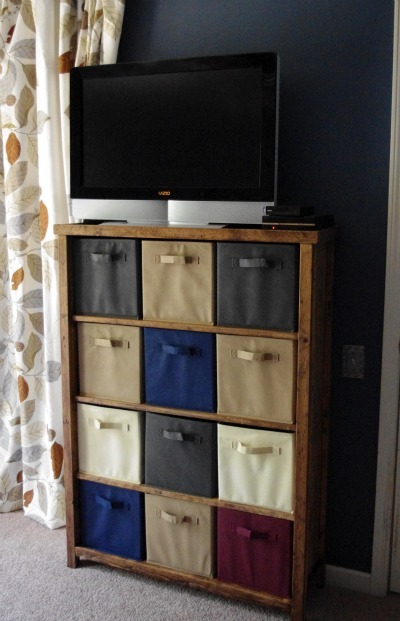 Ana White  Bedroom Dresser Cubbies  Media Stand  DIY Projects