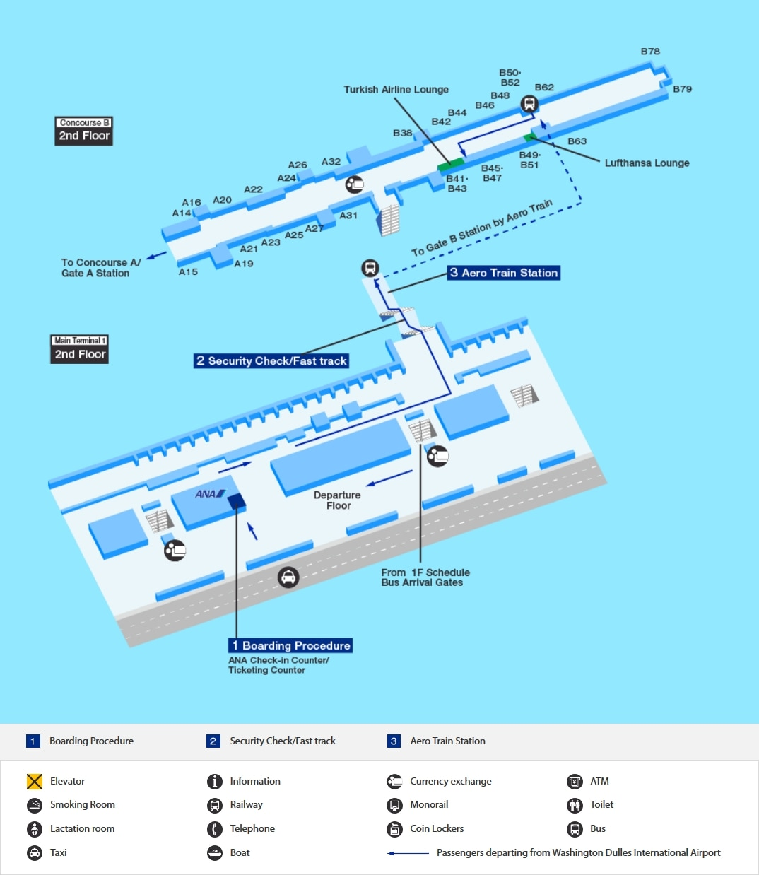Washington Dulles International Airport Airport And City Info At The Airport Travel Information Ana