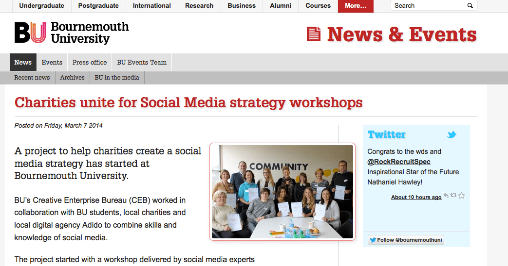 Social Media for Charities – in the press