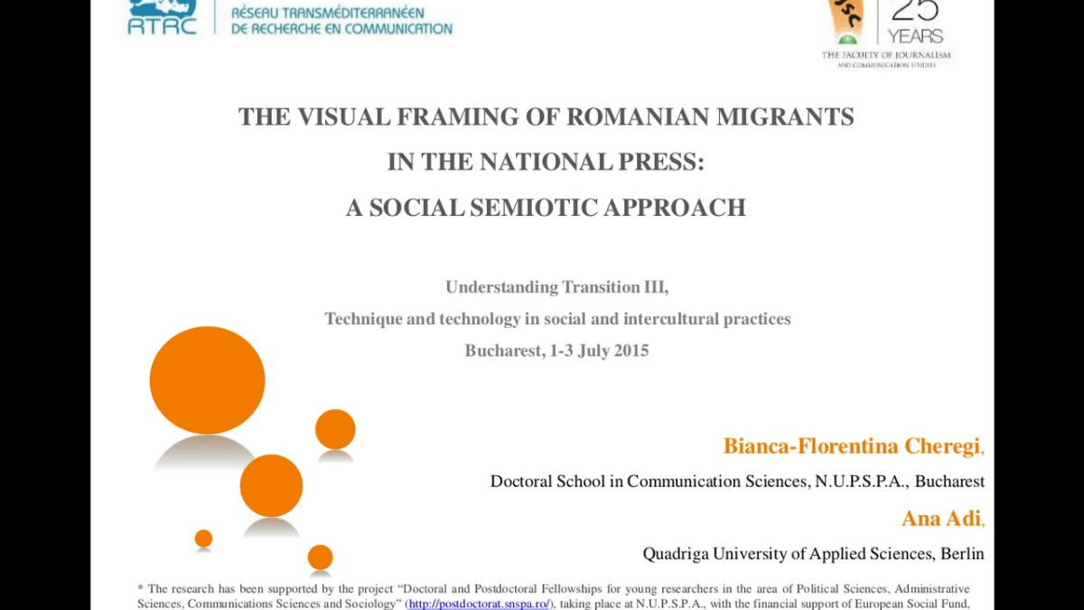 Conference paper: Visual framing of Romanian migrants