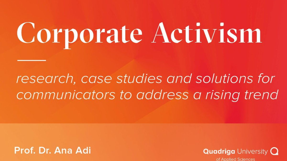 OUT NOW: Corporate activism
