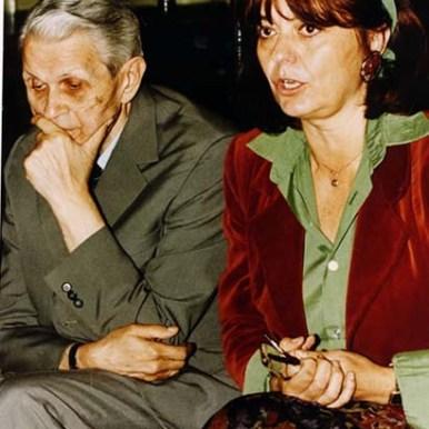 Împreuna cu Corneliu Coposu, în timpul unei sedinte a Convemtiei Democrate (1993)