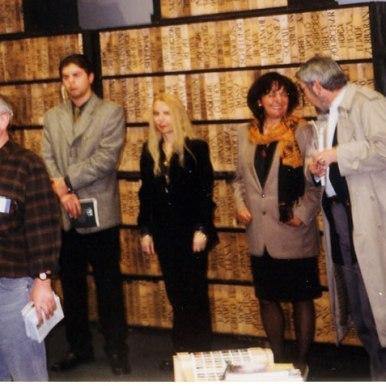 La Targul de Carte de la Leipzig impreuna cu Laurentiu Ulici si editorii sai din trei tari: Doina Uricaru(Ro), Dan Vidrascu (R.Moldova) si Szavai Geza(Ungaria)