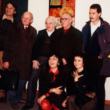 La universitatea din Heidelberg alaturi de prod. Klaus Hietmann, S. Damian si Ion Negoitescu