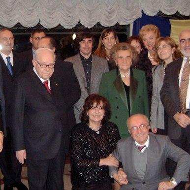 Ceremonia de decernare a premiilor Acerbi alaturi de prof. Lorenzo Renzi, prof. Bruno Manzzoni, prof. Marco Cugno, Mircea Cartarescu si organizatorii