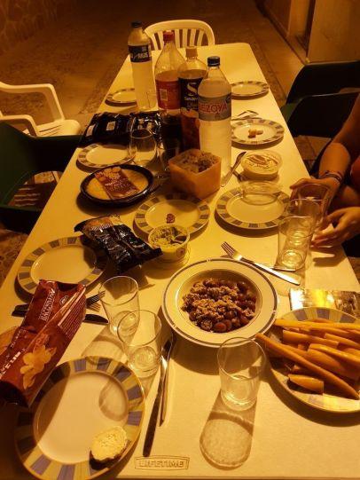Cena en la calle