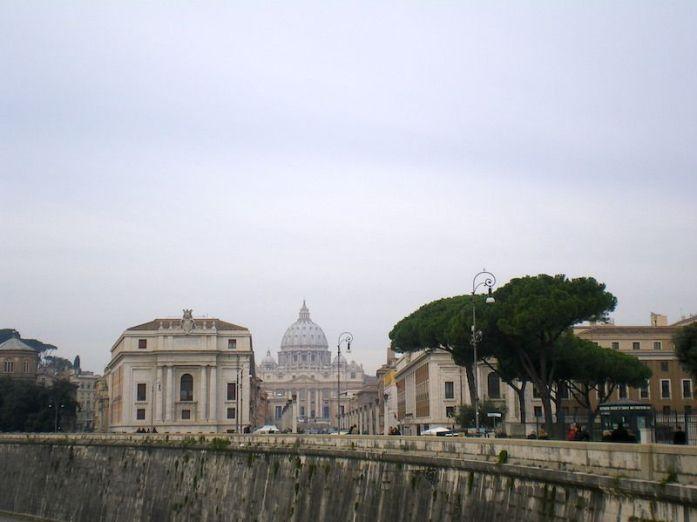 Roma. Vistas desde el puente de los Angeles