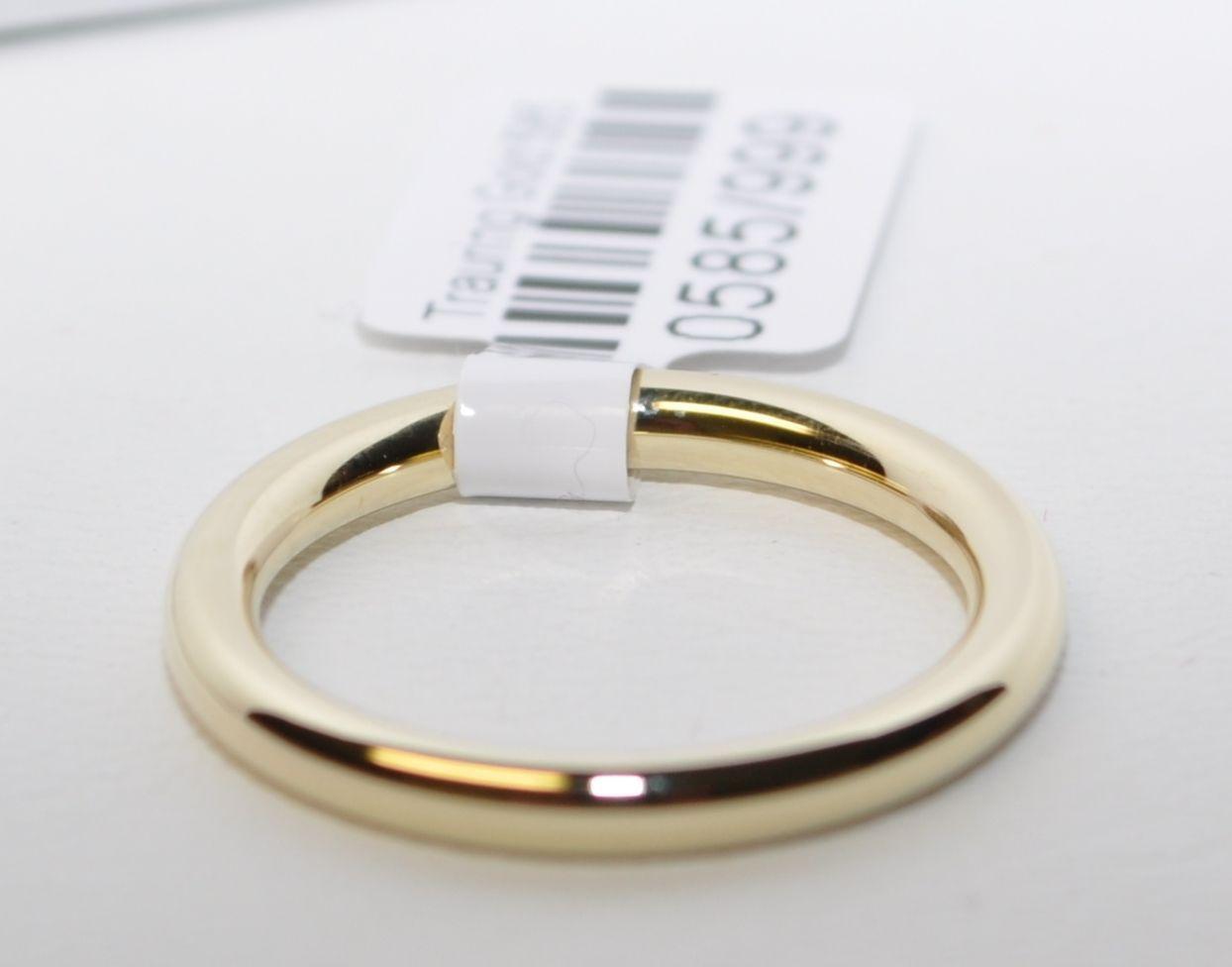 1 Trauring Ehering Hochzeitsring Gold 750 Poliert  Breite