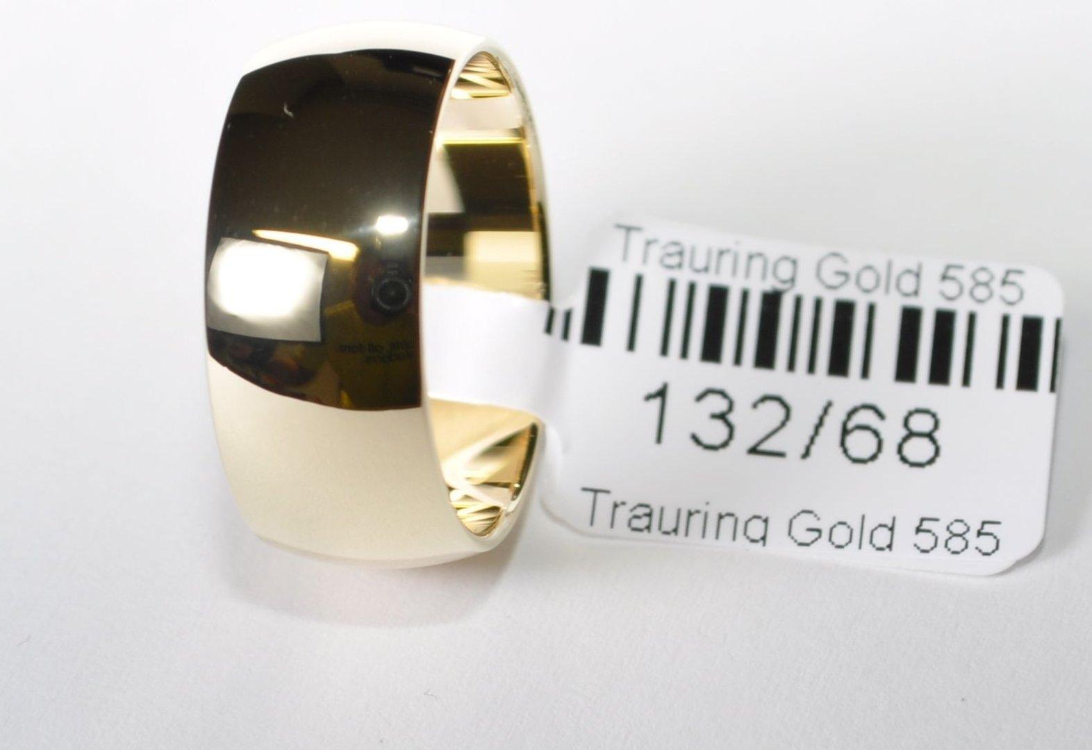 1 Trauring Ehering Hochzeitsring Gold 585 Poliert  Breite