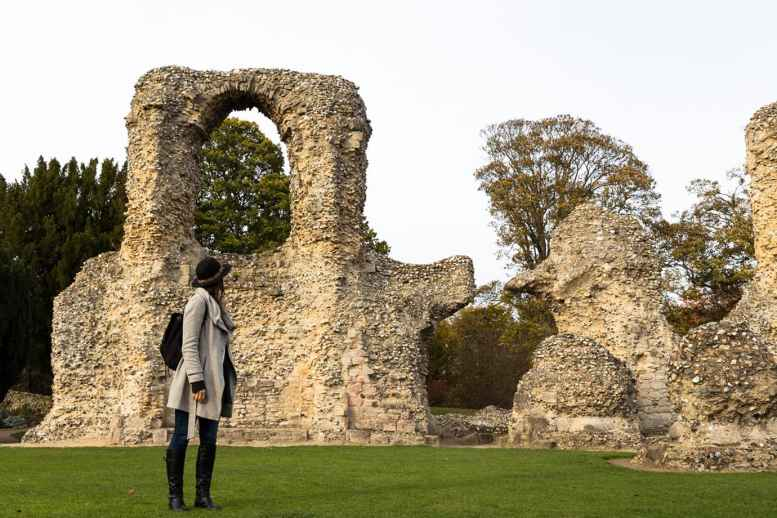 Taking in the ancient abbey at Burt St. Edmunds