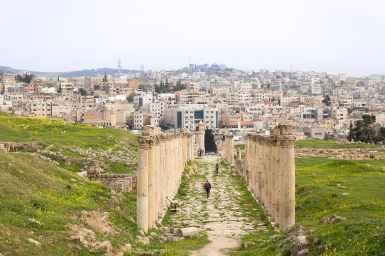 The columns of Jerash, Jordan