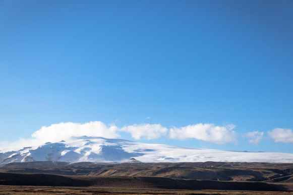 Snow capped mountains, Iceland